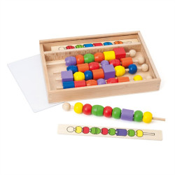 Παιχνίδι με ξύλινες χάντρες Oxybul EDUC4bul