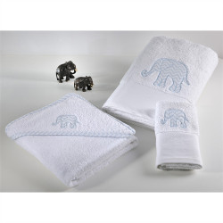 Πετσέτες DOWN TOWN BABY Elephant σετ των 2