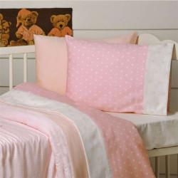 Πάνα DOWN TOWN BABY Star White - Pink 80 x 80 cm