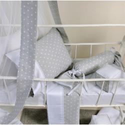 Πάνα DOWN TOWN BABY Star White - Grey 80 x 80 cm