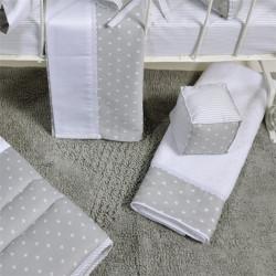 Πετσέτες DOWN TOWN BABY Star White - Grey σετ των 3