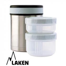 LAKEN σετ θερμός Inox 1000 ml και δοχεία φαγητού