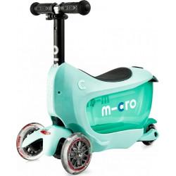 Τρίκυκλο παιδικό πατίνι - περπατούρα Micro Mini2Go Deluxe Plus Mint