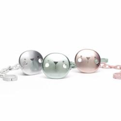 Suavinex κλιπ πιπίλας Premium Metallic Effect Hygge Baby Mint Whiskers