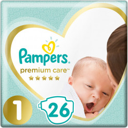 Πάνες Pampers® Premium Care Newborn No 1 (2-5 kg) 26 τεμάχια