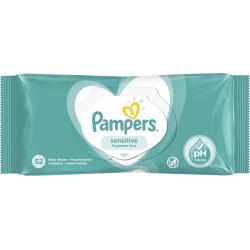 Pampers® μωρομάντηλα Sensitive 52 τεμάχια
