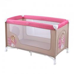 Παρκοκρέβατο LoreLLi® Baby Nanny Beige & Rose Princess