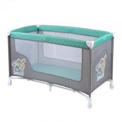 Παρκοκρέβατο LoreLLi® Baby Nanny Grey & Green Best Friends