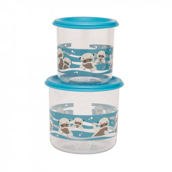 SUGARBOOGER BABY OTTER SNACK CONTAINER LARGE 2 ΔΟΧΕΙΑ ΦΑΓΗΤΟΥ 300ml+190ml
