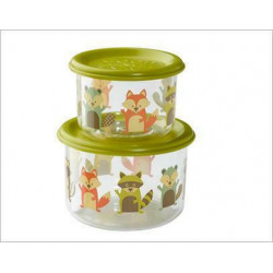 SUGARBOOGER WHAT DID THE FOX EAT SNACK CONTAINER LARGE 2 ΔΟΧΕΙΑ ΦΑΓΗΤΟΥ 300ml+190ml