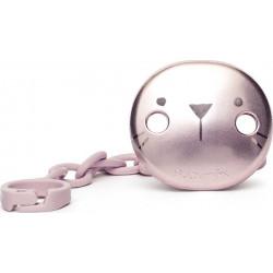 Suavinex κλιπ πιπίλας Premium Metallic Effect Hygge Baby Pink Whiskers