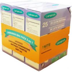 Lansinoh® σακουλάκια αποθήκευσης μητρικού γάλακτος 3 x 25 τεμάχια