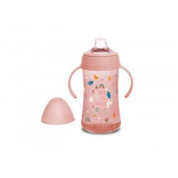 Suavinex εκπαιδευτικό μπιμπερό 270 ml Second Bottle Into the Forest Pink 4M+