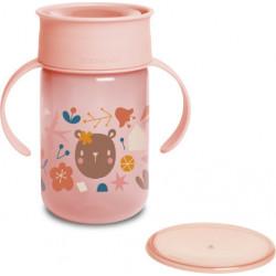 Suavinex εκπαιδευτικό κύπελλο 340 ml 360° Trainer Cup Into the Forest Pink 12M+
