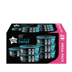 Tommee tippee 6 ανταλλακτικές κασέτες με σακούλες κάδου απόρριψης Twist & Click