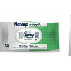 Nannys Antiseptic αντισηπτικά μαντηλάκια 30 τεμάχια