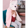 Κουβέρτα με κουκούλα Palamaiki New Baby Pink 60 x 90 cm