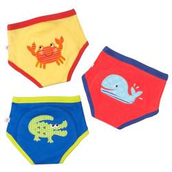 ZOOCCHiNi™ σετ εκπαιδευτικά βρακάκια Ocean Friends για αγόρι 2-3 ετών