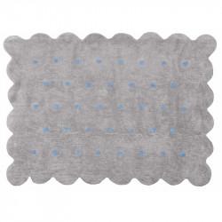 Χαλί πλενόμενο Aratextil Cookie Gris/Celeste 120 x 160 cm