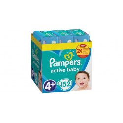 Πάνες monthly pack Pampers® Active Baby-Dry No 4+ (9-16 kg) 152 τεμάχια