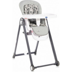 LoreLLi® καρέκλα φαγητού Party Cool Grey Leather