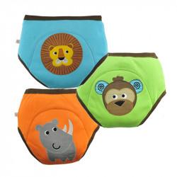 ZOOCCHiNi™ σετ εκπαιδευτικά βρακάκια Safari Friends για αγόρι 2-3 ετών