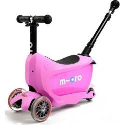 Τρίκυκλο παιδικό πατίνι - περπατούρα Micro Mini2Go Deluxe Plus Pink