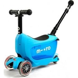 Τρίκυκλο παιδικό πατίνι - περπατούρα Micro Mini2Go Deluxe Plus Blue