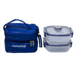 Miniland ισοθερμική θήκη και 2 δοχεία φαγητού Pack-2-Go Hermifresh 330 ml