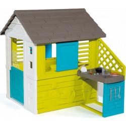 Σπιτάκι με κουζίνα Smoby Pretty Playhouse