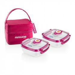 c564af601ad Miniland ισοθερμική θήκη και 2 δοχεία φαγητού Pack-2-Go Hermifresh 330 ml